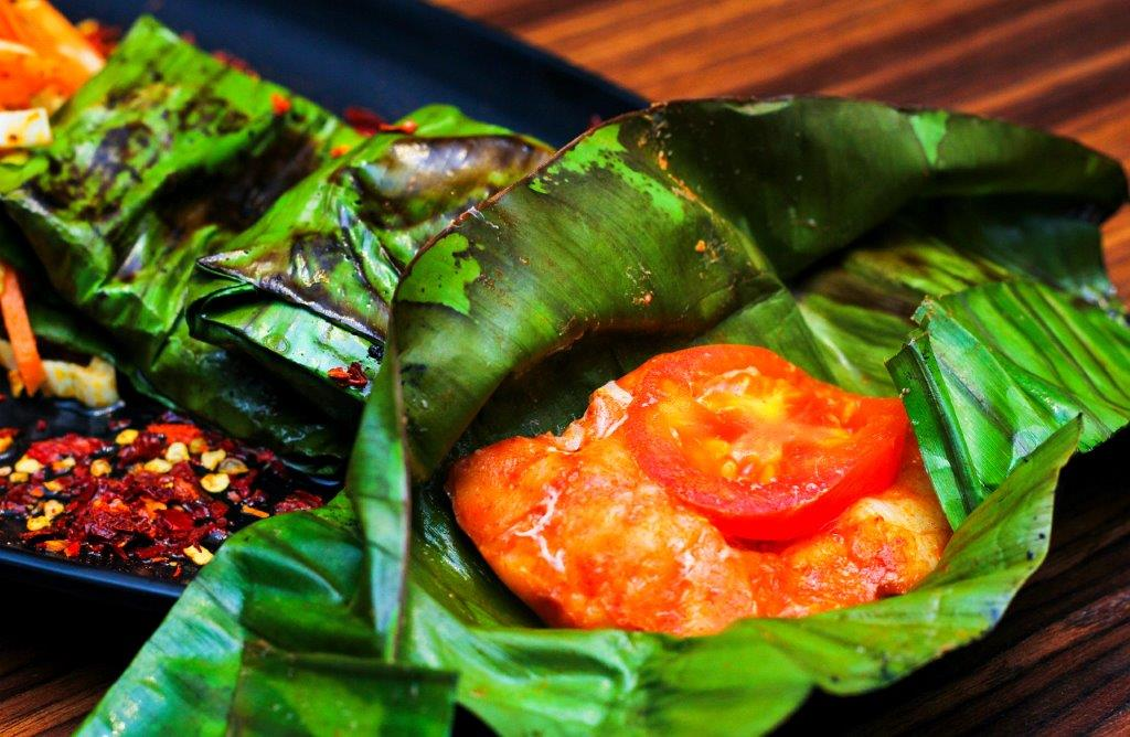 Banana Leaf wrapped Spicy Grilled Fish