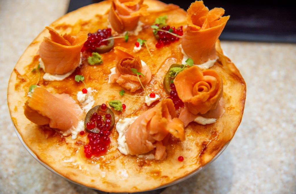 Pizza con Salmone e Mascarpone