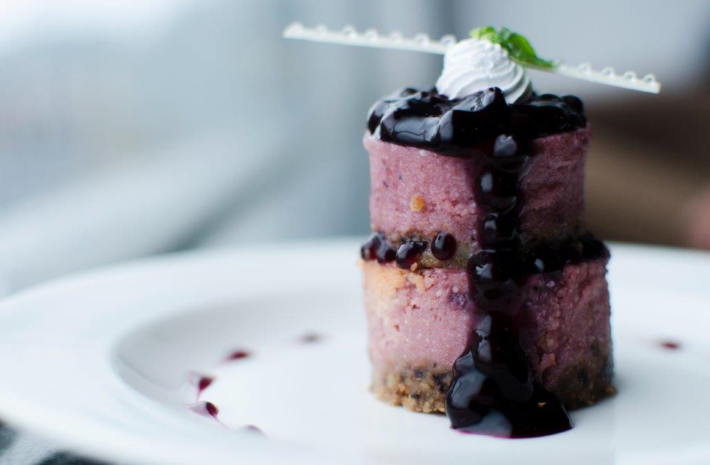 Baked Blueberry Cheesecake