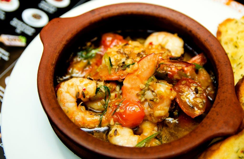 Chili Garlic Prawn Cooked in Olive Oil