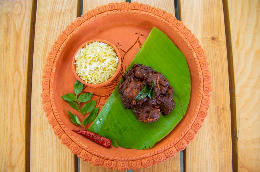 Railway Mutton Curry with Steamed Rice