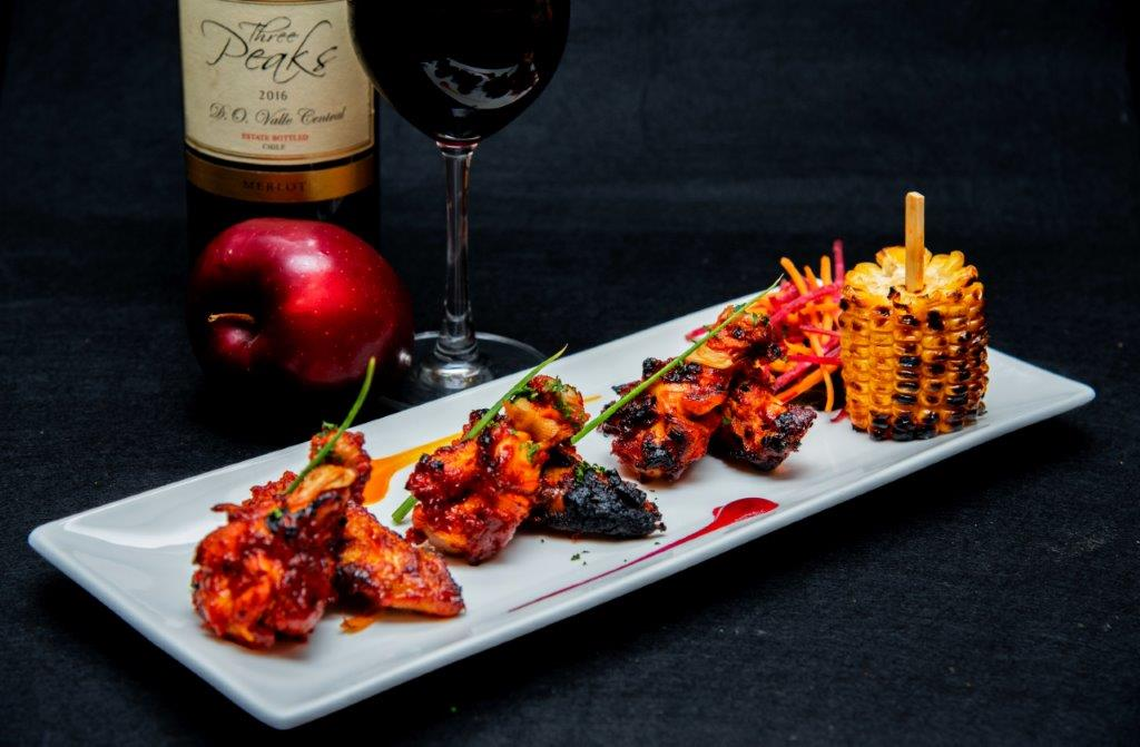 Chicken Wings paired with Three Peaks Cabernet Sauvignon Red Wine