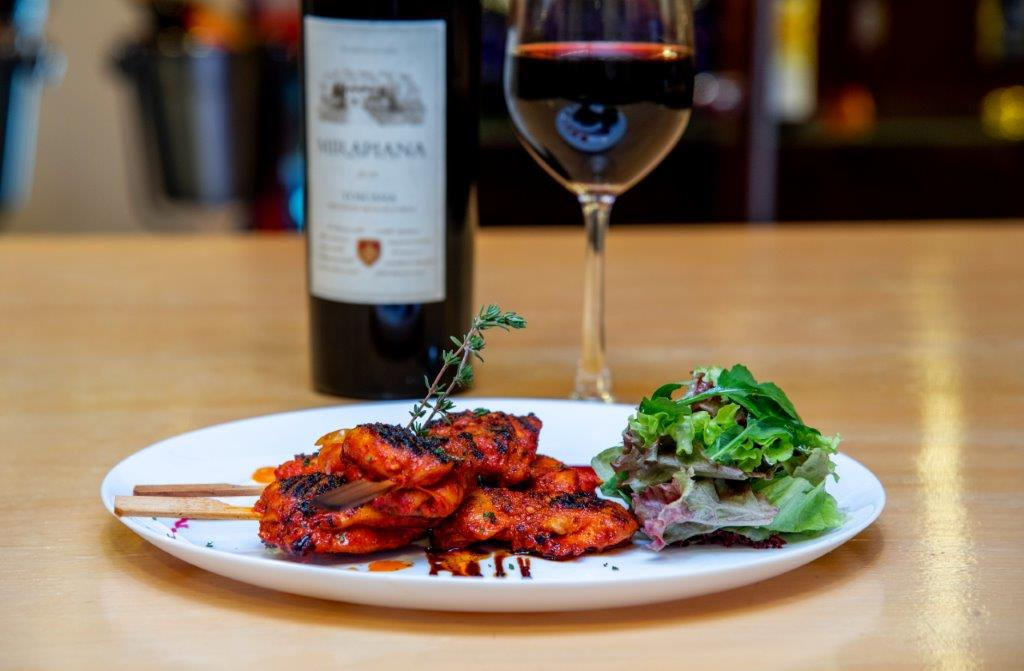 Chicken Peri Peri paired With Mirapiana Toscana Red Wine