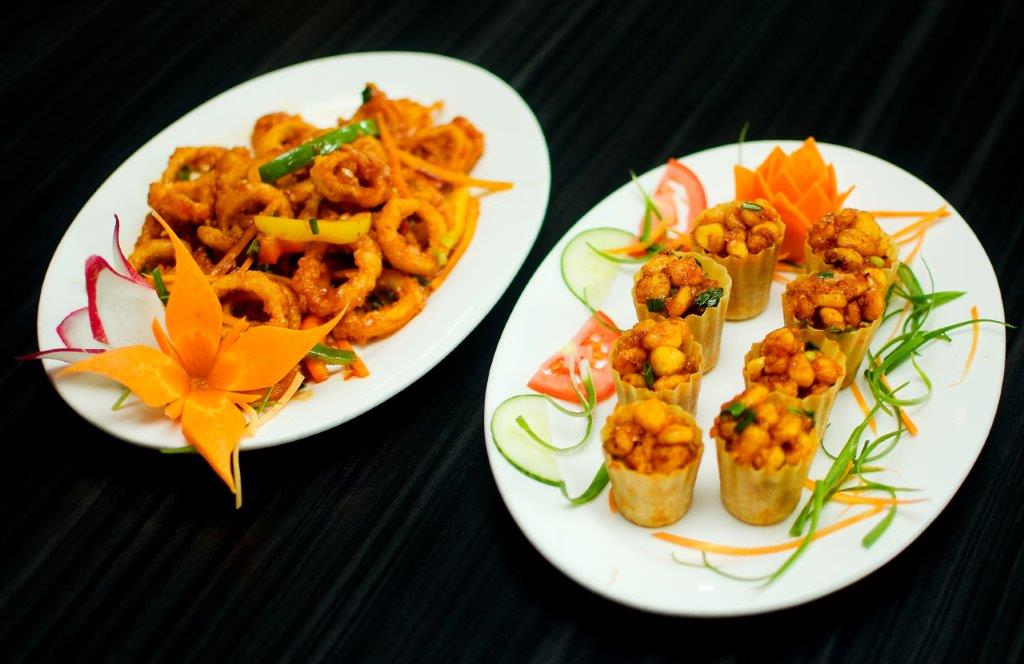American Crispy Corns & Honey Garlic Calamari