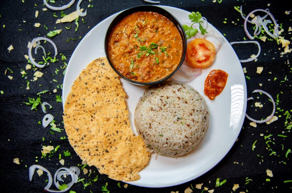 Rajma Chawal Plate