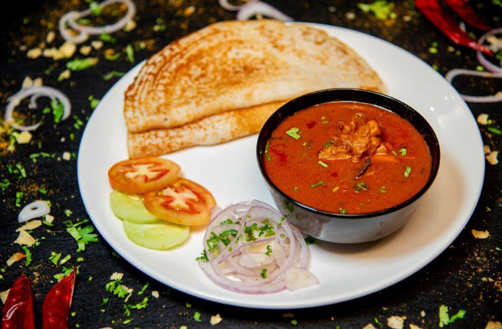 Dosa Chicken Curry