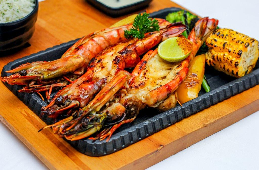 Grilled Butter Garlic Prawns